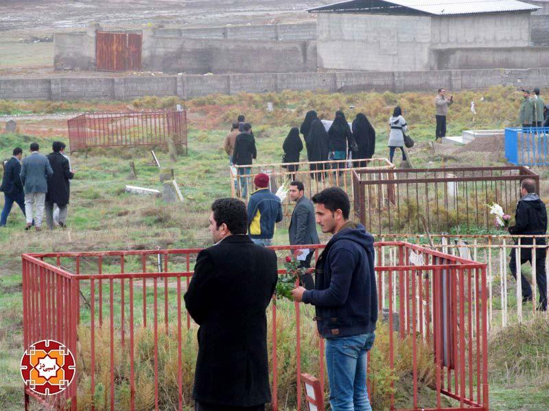 غبار روبی گلزار شهدا هفته بسیج آق قلا