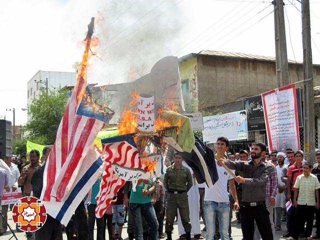 راهپیمایی روز قدس آق قلا